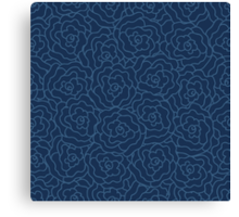 Elegance Seamless pattern with flowers Canvas Print
