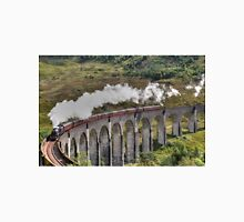 Jacobite Steam Train, Glenfinnan Viaduct, Scotland. Unisex T-Shirt
