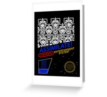 NINTENDO: NES ASSIMILATE! Greeting Card