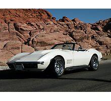 1968  Pearl White Corvette Photographic Print