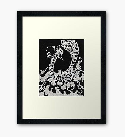 Peacefully Swim Framed Print