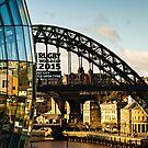 Gateshead Sage and Tyne Bridge by David Lewins