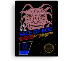 NINTENDO: NES Face Of Boe Canvas Print