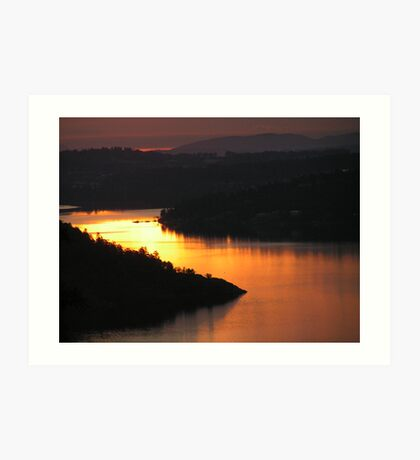 Brentwood Bay from the Malahat Art Print
