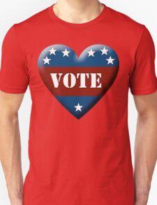 vote heart Unisex T-Shirt