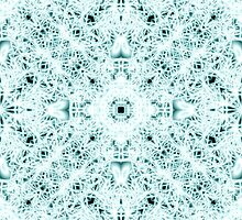 """""""Spirit of India: Two Crosses"""" in white and turquoise by FireFairy"""