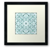 """""""Spirit of India: Two Crosses"""" in white and turquoise Framed Print"""