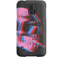 Van Gogh Skull with burning cigarette remixed 2 Samsung Galaxy Case/Skin