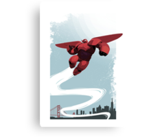 Baymax in the sky! Canvas Print