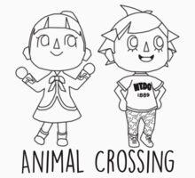 Animal Crossing Villagers Outline by brokensixteen