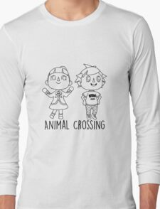 Animal Crossing Villagers Outline Long Sleeve T-Shirt