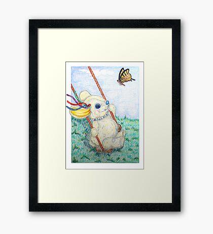 Pooky Swing Framed Print