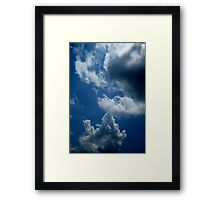 Water in the Skies Framed Print
