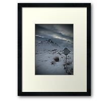 Wrong Turn! Framed Print