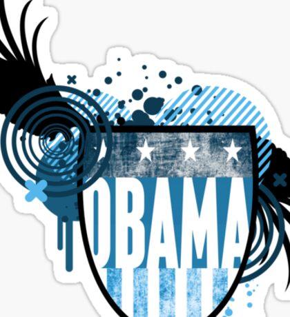 obama : hi-fi crest Sticker