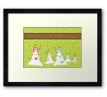 Silly Christmas Trees Framed Print