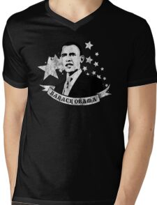 barack obama : starz and scrollz Mens V-Neck T-Shirt