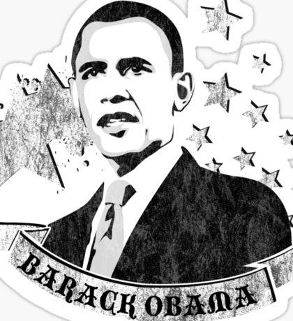 barack obama : starz and scrollz Sticker