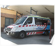 Mica Paramedic Vehicle - Latrobe Valley Hospital Poster
