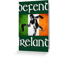defend ireland flag Greeting Card