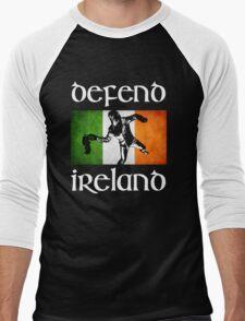 defend ireland flag Men's Baseball ¾ T-Shirt