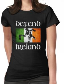 defend ireland flag Womens Fitted T-Shirt