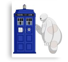 Baymax meet TARDIS Canvas Print