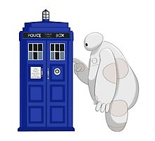 Baymax meet TARDIS Photographic Print
