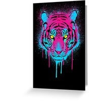 CMYK tiger Greeting Card