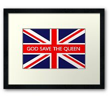 God Save The Queen UK Flag Framed Print