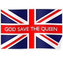 God Save The Queen UK Flag Poster