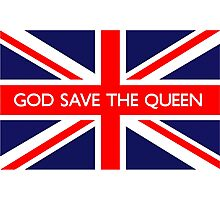 God Save The Queen UK Flag Photographic Print