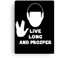 Live Long and Prosper (Leonard Nimoy) Canvas Print
