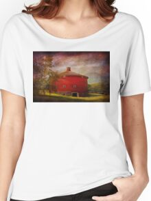 Farm - Barn - Red round barn  Women's Relaxed Fit T-Shirt