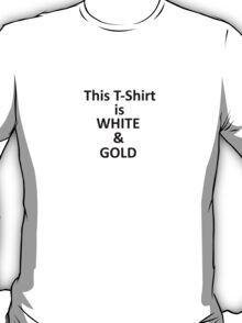 This Tshirt is white and gold T-Shirt