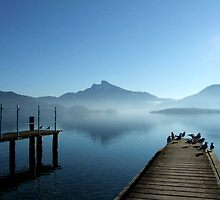 Morning fog at the Mondsee  by Klaus Offermann