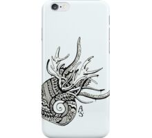 Abstract snail - with drips iPhone Case/Skin