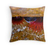 Ocean Flowers Throw Pillow
