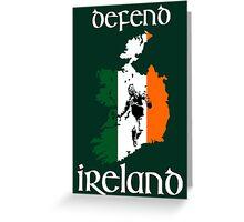 defend ireland - flag Greeting Card