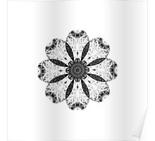 """Spirit of India: Fleur"" in white, grey and black Poster"