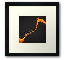 Frayed Abstract Framed Print