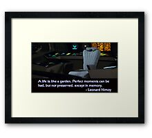 Spock's Empty Chair Framed Print