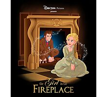 The Girl In The Fireplace Photographic Print