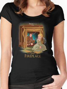 The Girl In The Fireplace Women's Fitted Scoop T-Shirt