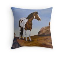 The wild painted pony Throw Pillow