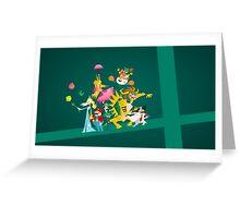Mushroom Kingdom Smashers! Greeting Card