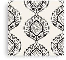Black luxury ornamental pattern Canvas Print