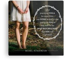 Yoga Psychiatry Metal Print