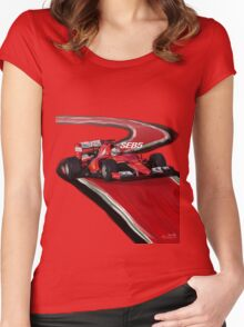 Ferrari SF15-T - Seb5 Women's Fitted Scoop T-Shirt