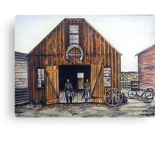 OAR AND BURKE BLACKSMITHING AND WAGONWORKS Canvas Print